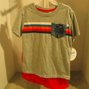 Boy's Knit Top & Short Set by Nannette Kids